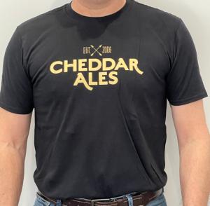 Cheddar Ales T-shirt - BLACK thumbnail
